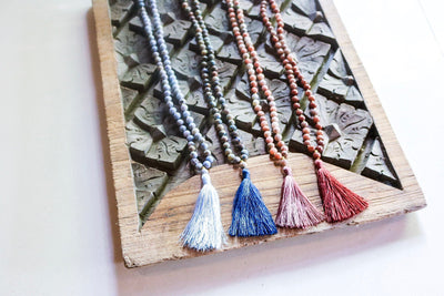 108 Lapis Mala Necklace