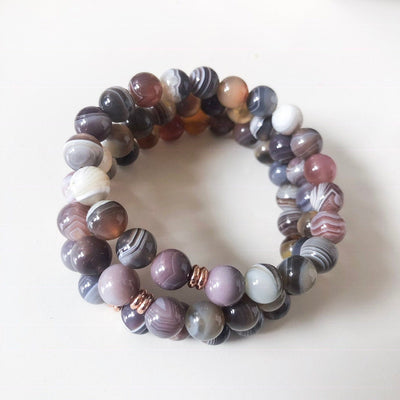 Botswana Agate Intention Bracelet