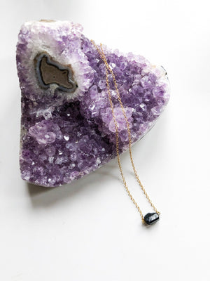 Black Tourmaline Gemstone Necklace