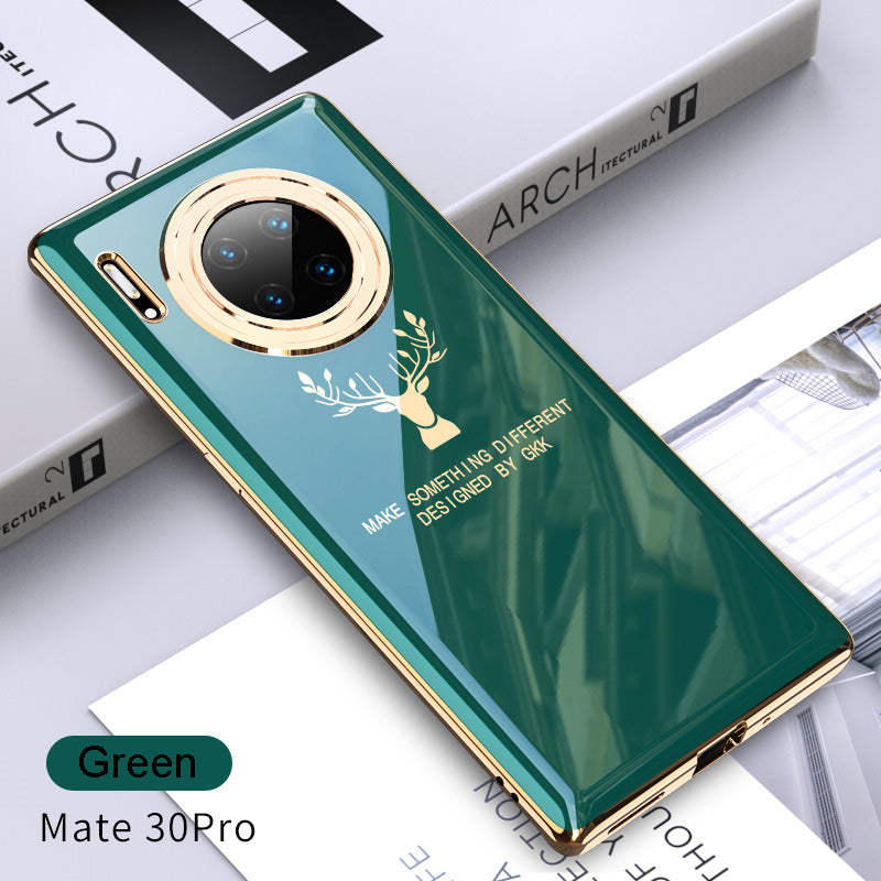 2020 Luxury Plating Deer Pattern Phone Case For Huawei