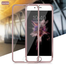 Load image into Gallery viewer, Tempered Glass Full Screen Protector 3D Aluminum Alloy For iPhone - VooChoice