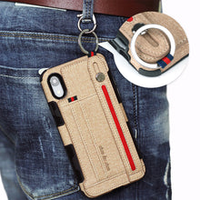 Load image into Gallery viewer, Metal Buckle Wrist Strap Bracket Card Slot Phone Case