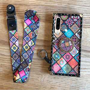 High Quality Bohemian Lanyard Ring Case For iPhone
