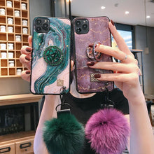 Load image into Gallery viewer, European Style Vintage Diamond Popsocket iPhone Case - hotbuyy
