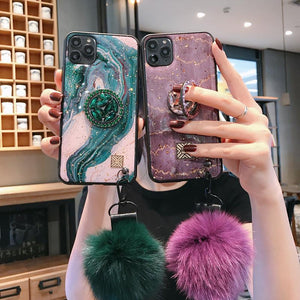 European Style Vintage Diamond Popsocket iPhone Case - hotbuyy