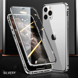 iPhone | 2020 Upgraded Two Side Tempered Glass Magnetic Adsorption Phone Case