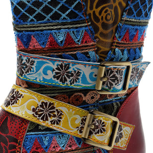 Bohemia New Casual Vintage Ethnic Style Genuine Leather Women's Boots