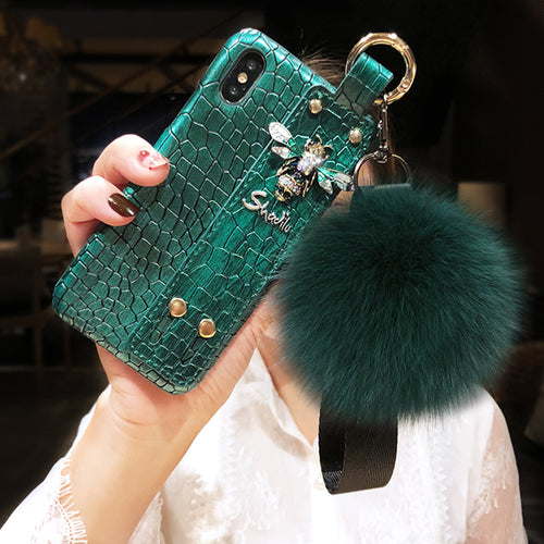 Hair Ball Crocodile Case For iPhone