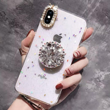 Load image into Gallery viewer, Queen Diamond Bracket Mobile Phone Case For iPhone (with AirBag)