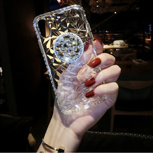 Load image into Gallery viewer, Diamante Pattern Mobile Phone Case iPhone(with AirBag Bracket)
