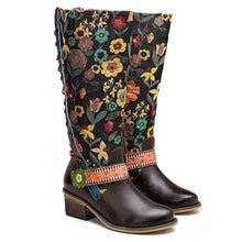 Load image into Gallery viewer, 2018 Casual Retro Ethnic Style Leather Knee Women's Boots