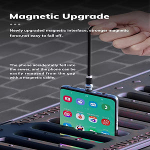 Dealggo丨2020 Spherical 360 Degree Magnetic Charging Cable 3 in 1 Type C Micro USB Cable usb Magnetic Cable for iPhone Android