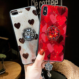 2019 Newest Luxury Diamond Case With Ring Bracket For Samsung