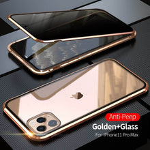 Load image into Gallery viewer, 2020 Double-Sided Protection Anti-Peep Tempered Glass iPhone Case