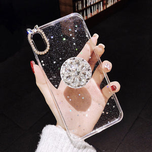 Queen Diamond Bracket Mobile Phone Case For iPhone (with AirBag)