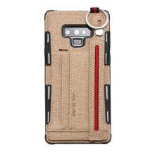 Load image into Gallery viewer, British Style Canvas Pattern Multi-function Leather Phone Case For Samsung