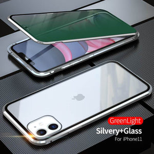 2020 Double-Sided Protection Anti-Peep Tempered Glass Cover For iPhone 11 Series