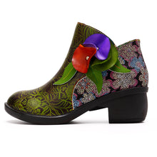 Load image into Gallery viewer, New Fashion Ethnic Style Retro Women's Boots Stitching Craft Leather Women's Boots