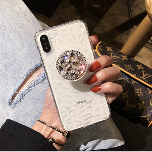Diamante Pattern Mobile Phone Case iPhone(with AirBag Bracket)