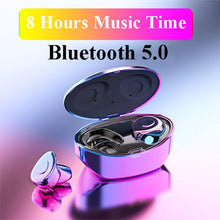 Load image into Gallery viewer, Newest Wireless Bluetooth 5.0 & IP7 Waterproof Bluetooth Headset Dual Mic with Charger