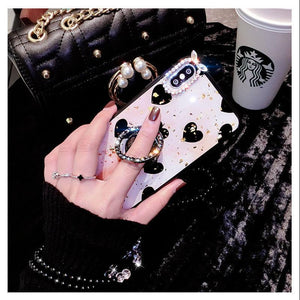 2019 Newest Luxury Diamond Phone Case With Bead Chain For Samsung