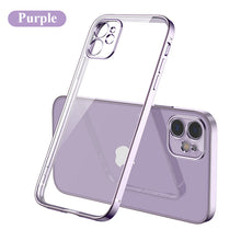 Load image into Gallery viewer, 2020 Luxury Plating Transparent Phone Case For iPhone 12, 11, X, 8, 7, SE Series