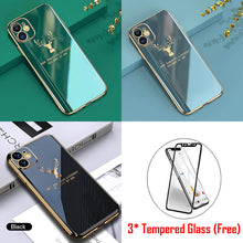 Load image into Gallery viewer, (Free Gift: Tempered Glass)Luxury Plating Deer Pattern iPhone Case