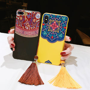 Vintage Palace Wind Tassel Phone Case For iPhone