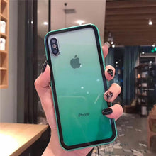 Load image into Gallery viewer, 2019 Summer Gradient Glass Candy Color iPhone Case