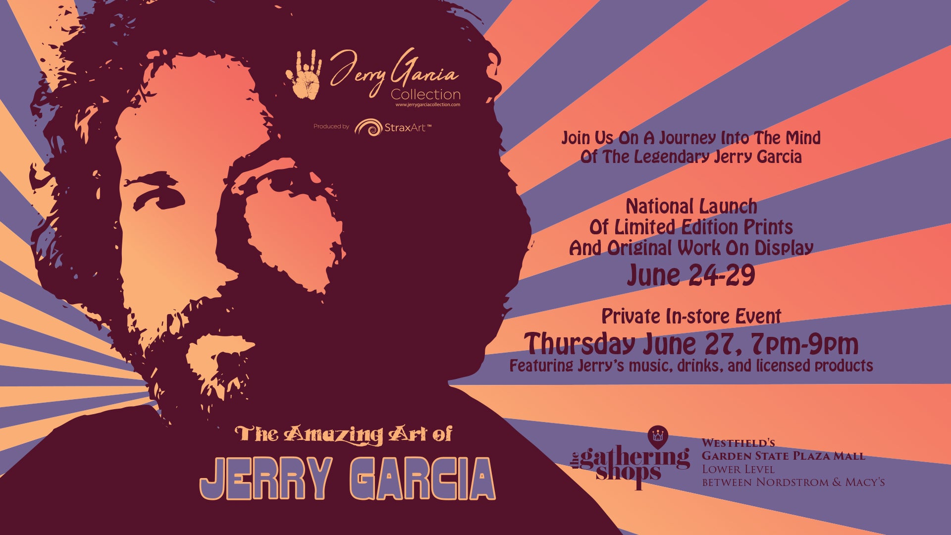 """NATIONAL LAUNCH OF THE JERRY GARCIA ART COLLECTION"""