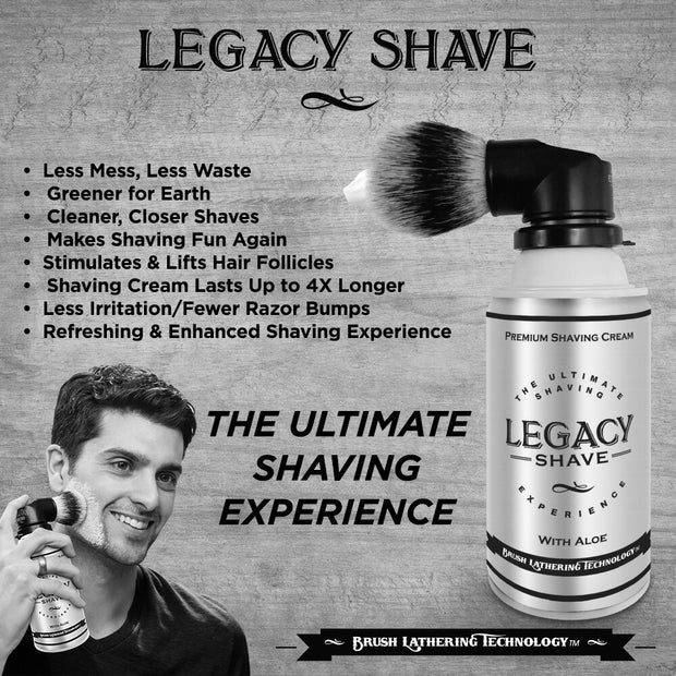 Legacy Shave Brush & After Shave Balm Gift Set - The Gathering Shops