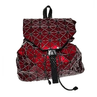 Junell5 Red Metallic Pouch Backpack