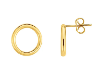 Lily Max Simple Open Circle Earrings - The Gathering Shops