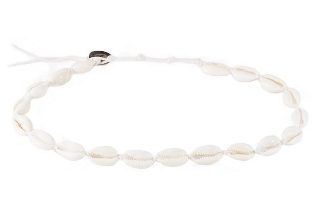 Lotus And Luna Shell Choker W/ White Cord