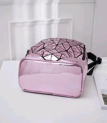 Junell5 Raindrop Pink Backpack