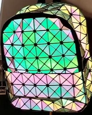 Junell5 Squares Luminous Backpack Large