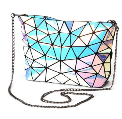Junell5 Ice Cold Laser Chain Crossbody Bag
