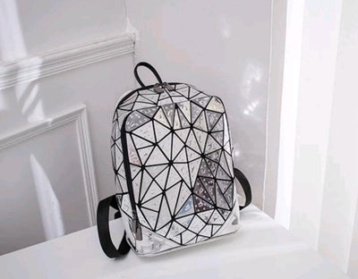 Silver Raindrop Backpack