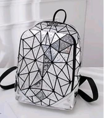 Junell5 Silver Raindrop Backpack