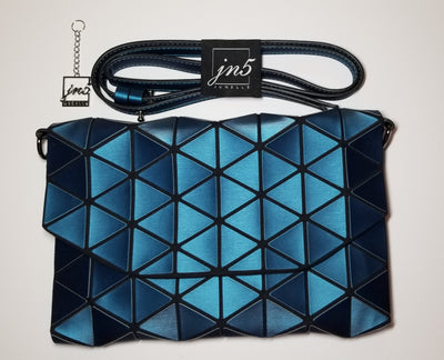 Junell5 Teal Envelope Triangle Clutch Purse - The Gathering Shops