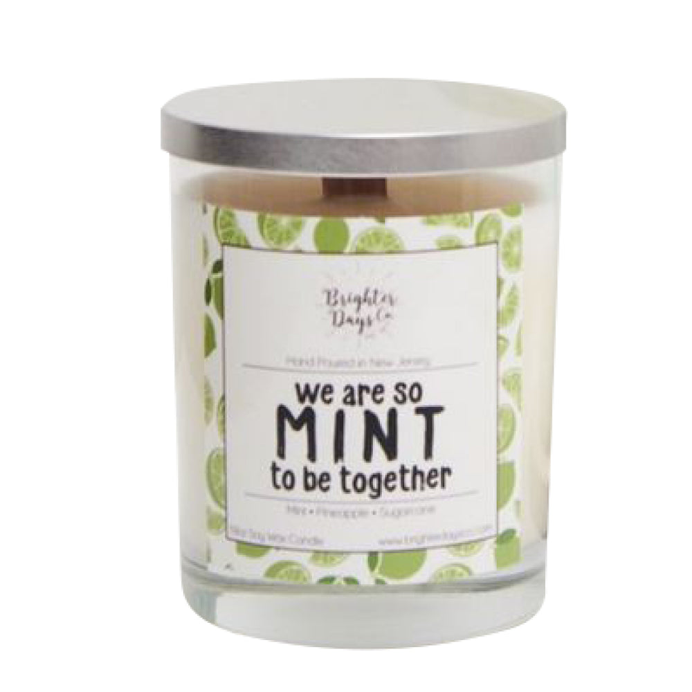 Brighter Days We Were So Mint To Be Together Candle - The Gathering Shops