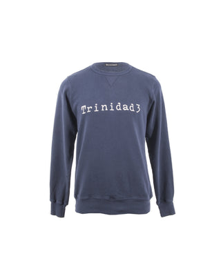 LARIOS CREW NECK SWEATSHIRT- NAVY