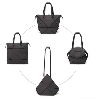 4-Way Luminous and Iridescent Geometric Bag