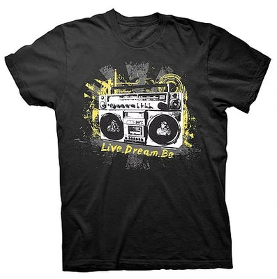 Digmi Boombox Black Short Sleeve T-Shirt - The Gathering Shops
