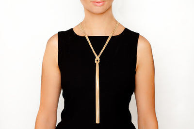 Avenue Chic Big Knot Necklace - The Gathering Shops