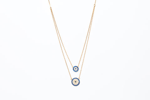 Avenue Chic Double Evil Eye Necklace - The Gathering Shops