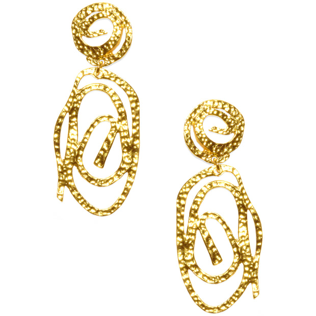 Avenue Chic Long Rose Earrings - The Gathering Shops