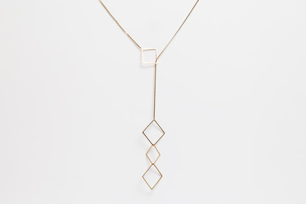 Avenue Chic Square Dangle Necklace - The Gathering Shops