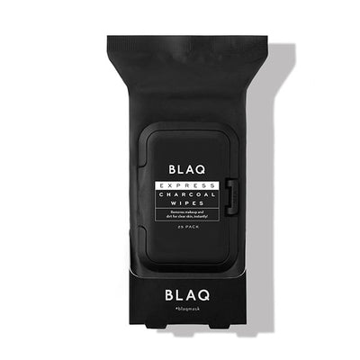 BLAQ EXPRESS CHARCOAL WIPES | 25 Pack
