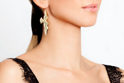 Avenue Chic Gold Bird Earrings - The Gathering Shops